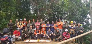 2° Encontro e Treinamento de Resgate em Ambiente Vertical de Grupos Civis e Militares do Sul do País