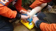 Resgate de Jovem com fratura no pé no Monte Crista